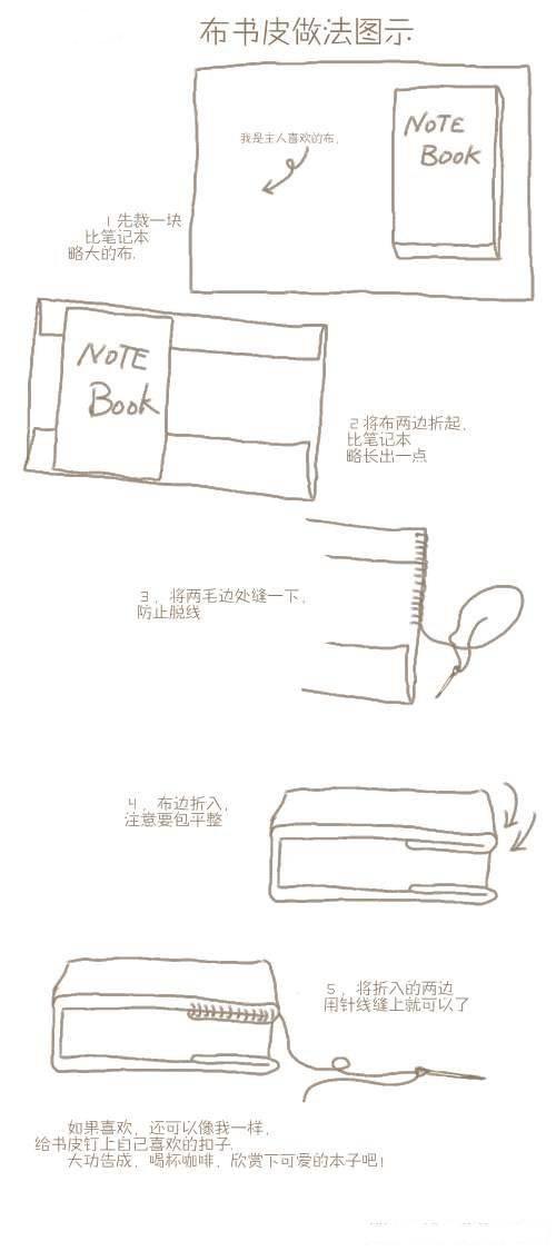 韩式包书皮的方法图解
